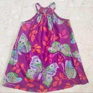 NEW Halter Neck Butterfly Purple Summer Dress Girl